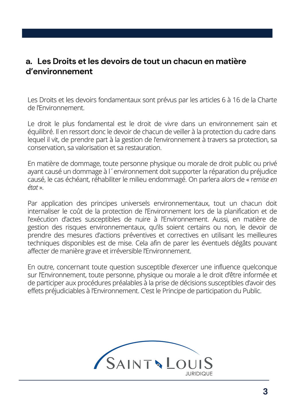 La protection environnementale 3