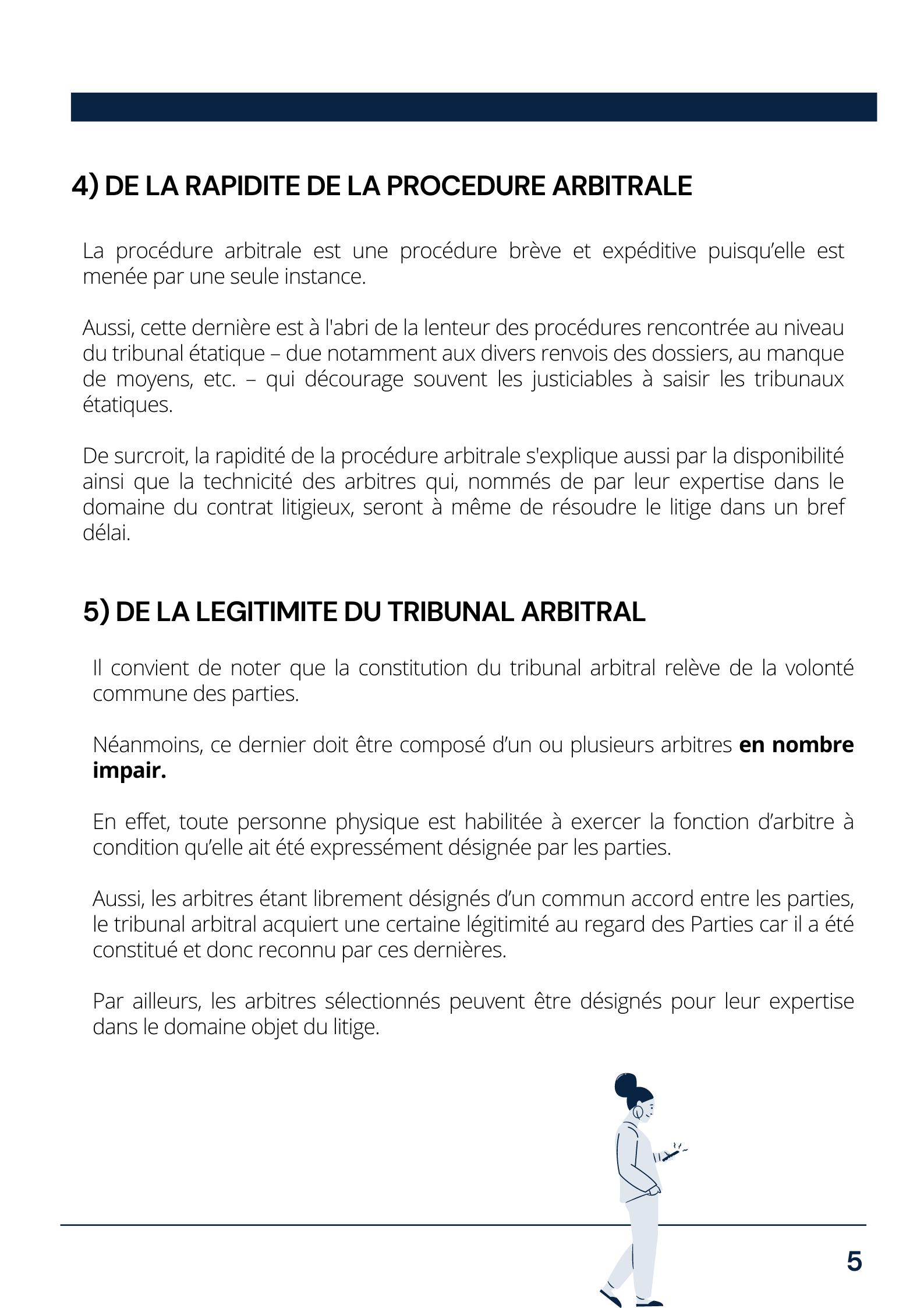 Règlement par voie d'arbitrage page 5